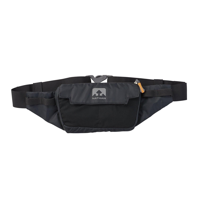 Nathan NS4912 Marathon Running Belt, Lightweight Training Pack with Stretch Pocket, Black, One Size