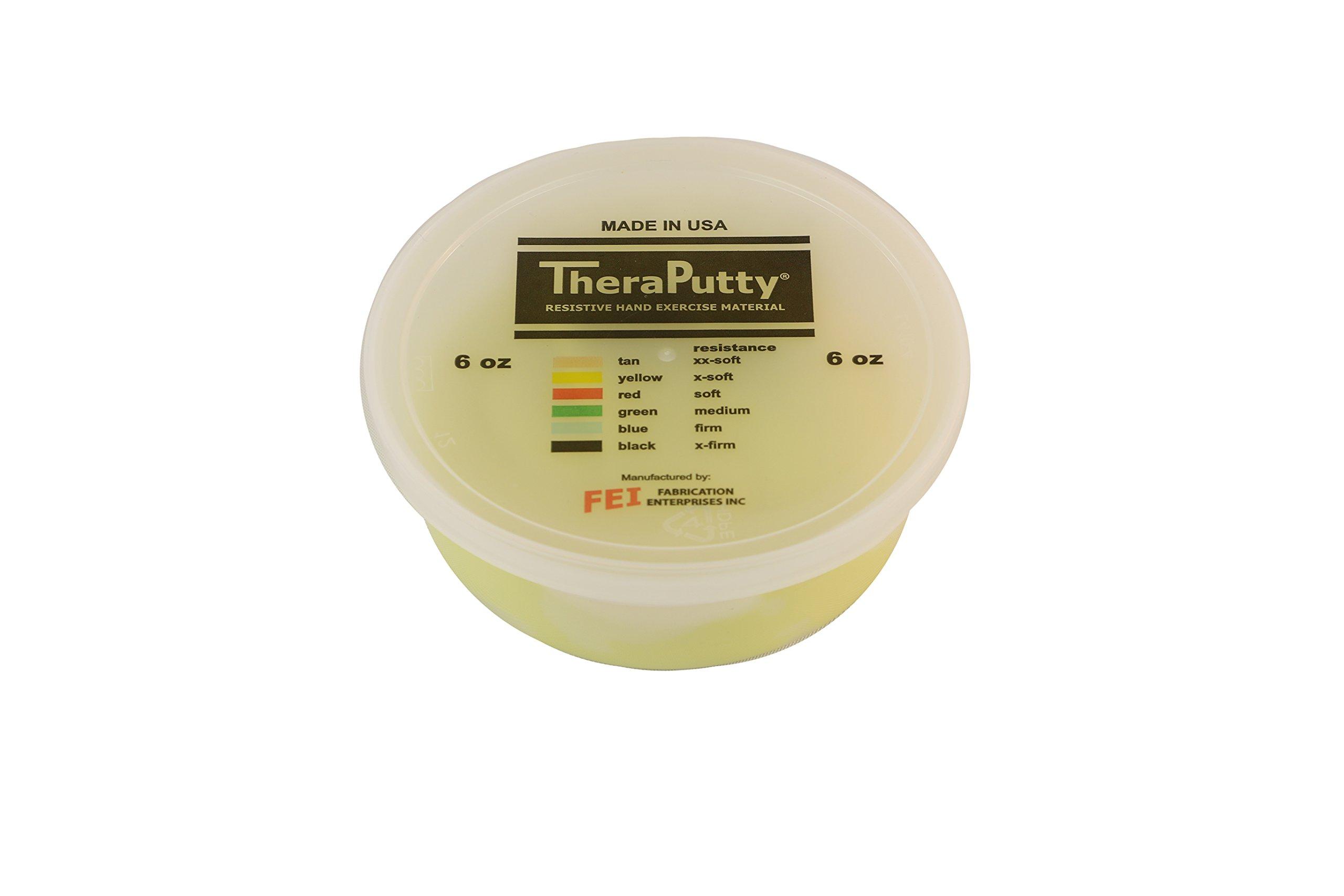 CanDo TheraPutty Plus Anti-microbial, Yellow: X-Soft, 6 oz