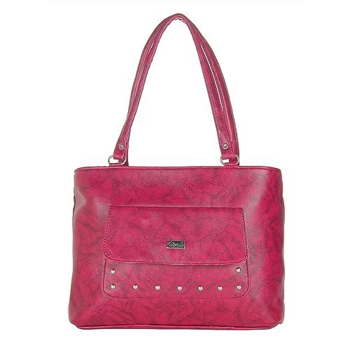 fa21d9627e Designer Fancy Maroon Colour PU Stylish Handbags HandHeld bags Shoulder Bags  For Girls Womens Ladies by JG Shoppe  Amazon.in  Shoes   Handbags