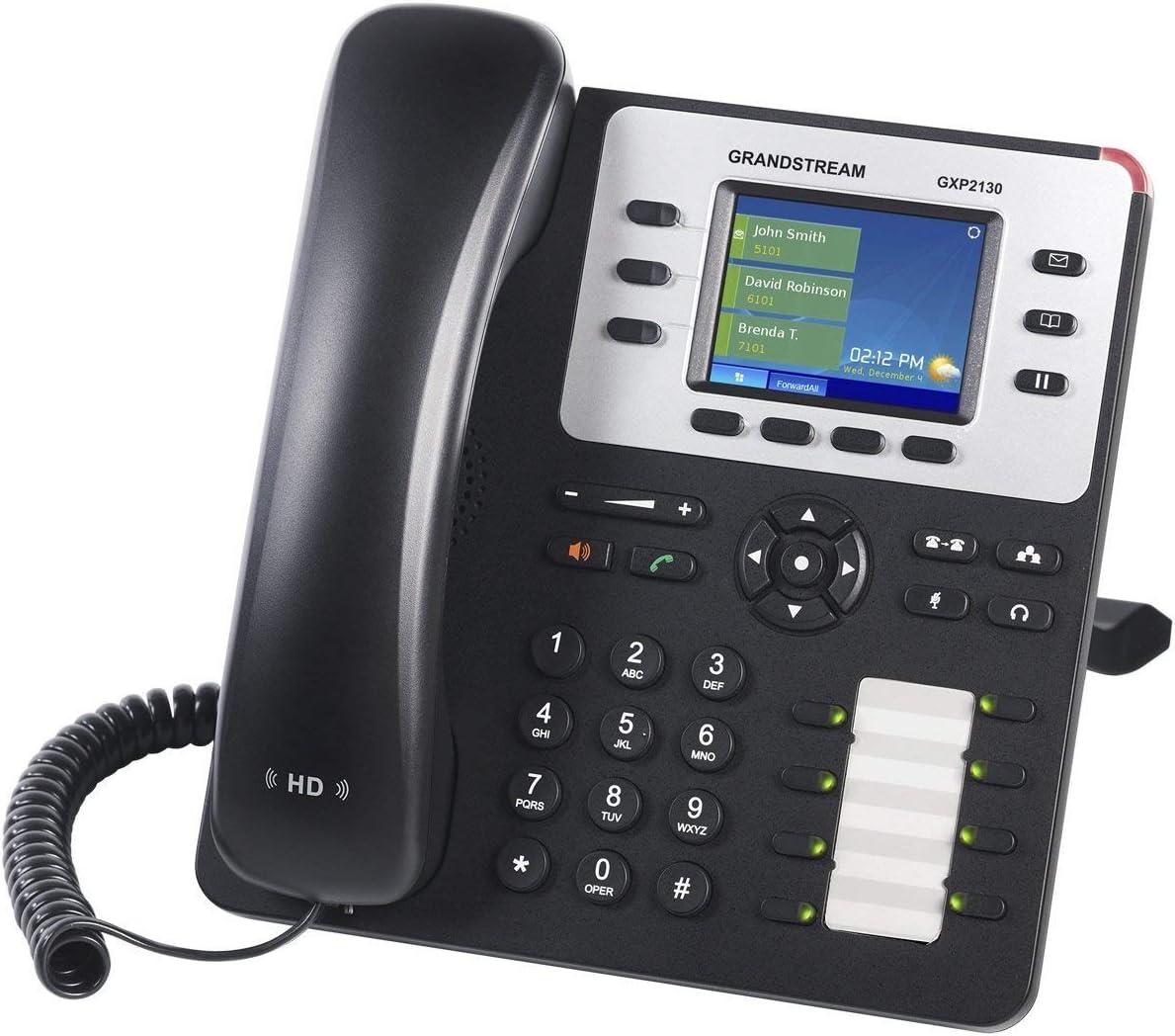 Grandstream Enterprise IP Telephone GXP2130 2.8 LCD, POE, Power Supply Included Renewed