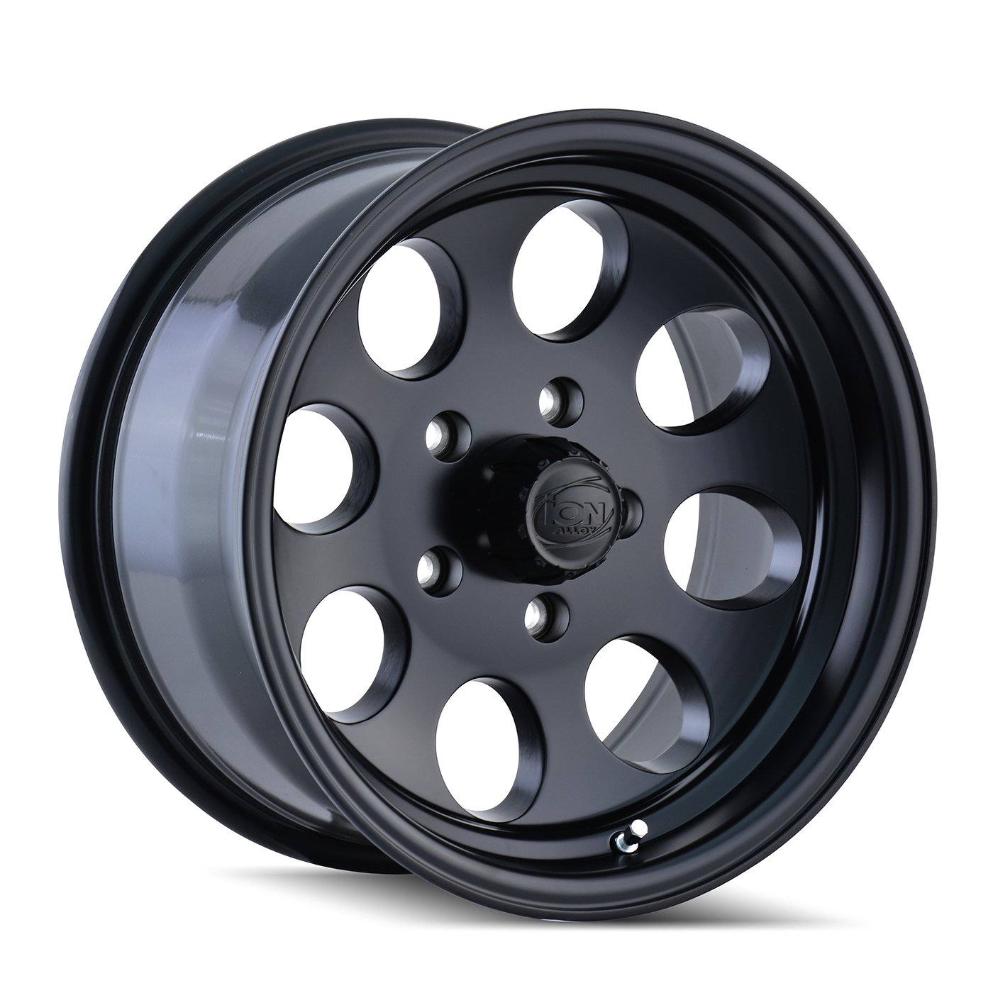 """Ion Alloy 171-7981MB Style Matte Black Wheel with Machined Lip (17x9""""/8x165.1mm)"""
