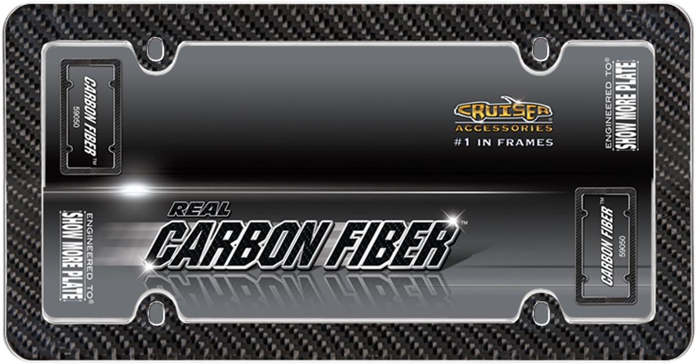 59050 Carbon Fiber, Carbon Fiber//Chrome Cruiser Accessories 59050 Carbon Fiber Black
