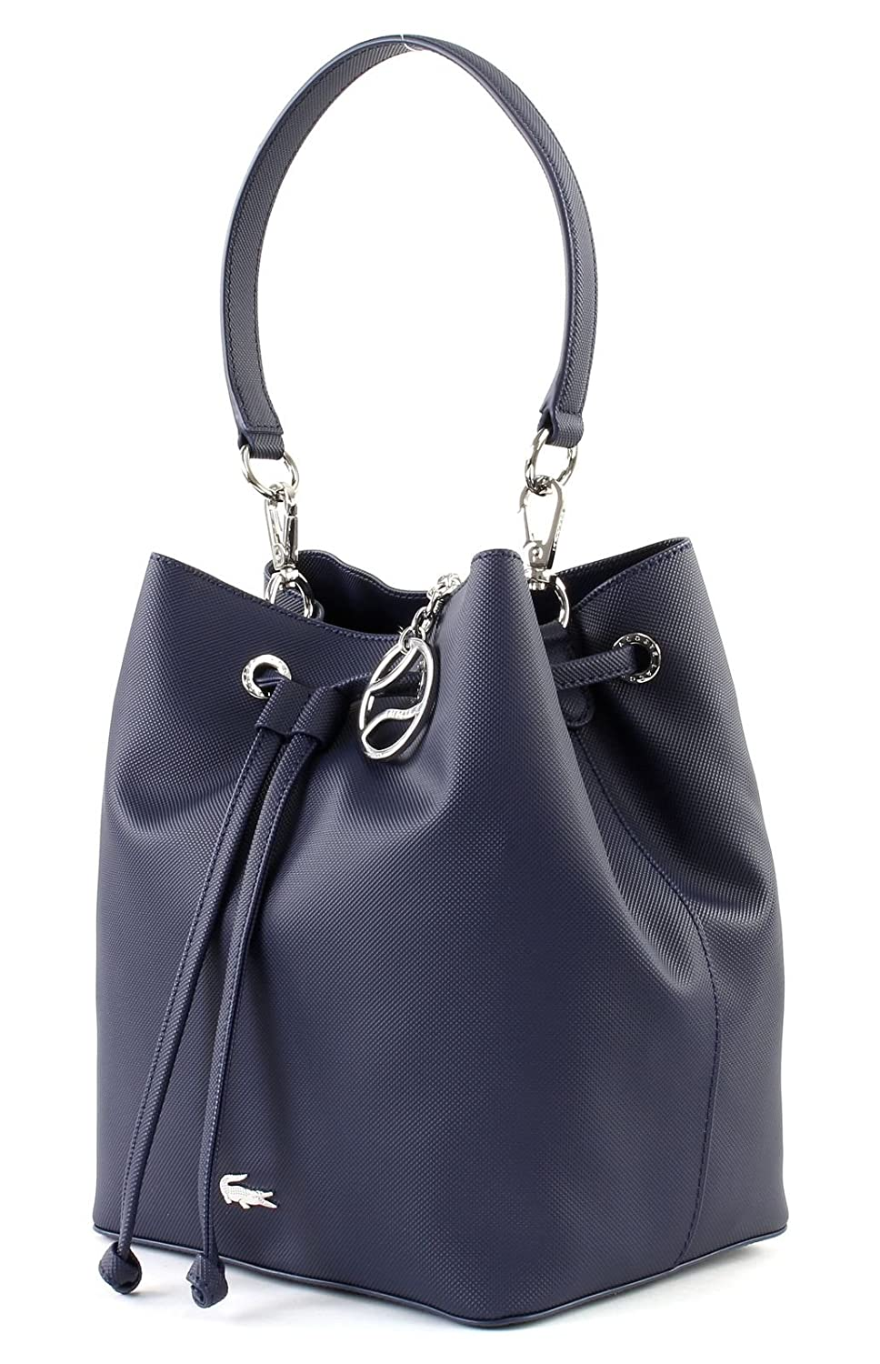 c98bbac49d LACOSTE Daily Classic Bucket Bag Peacoat: Amazon.co.uk: Shoes & Bags