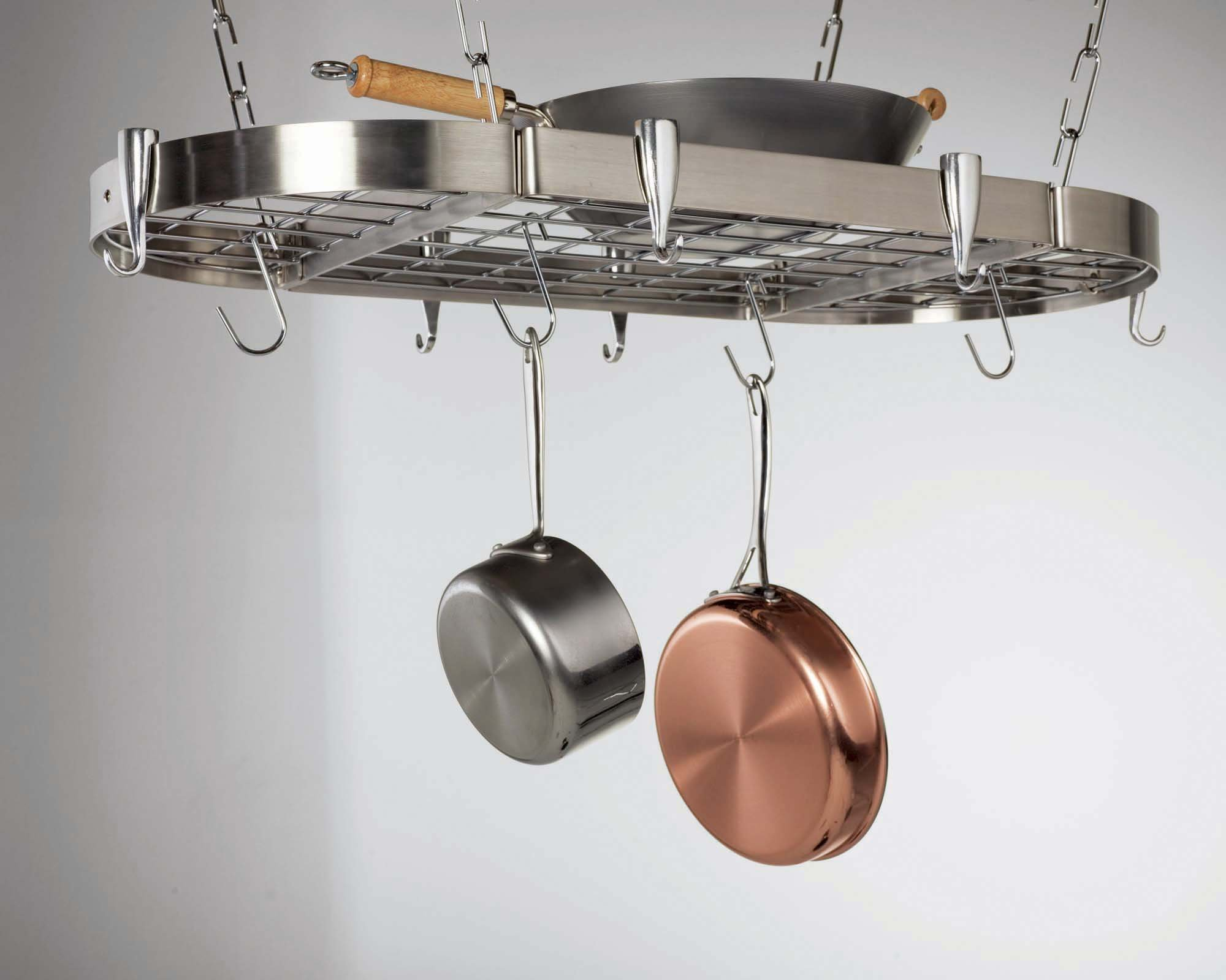 Concept Housewares Oval Stainless Steel Pot Rack