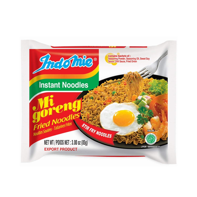 Mi Goreng Instant Stir Fry Noodles, Halal Certified, Original Flavor (Pack of 30), 90 Ounce