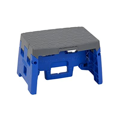 Cosco 1 Step Molded Folding Step Stool, Type 1A, Blue and Gray Blue and Gray: Home Improvement