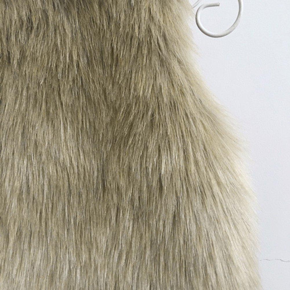 Baby Girl V Neck Faux Fur Vest Warm Sleeveless Jacket Per