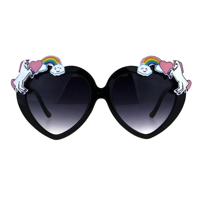 Amazon.com: Para mujer unicornio y arcoíris Funk corazón San ...