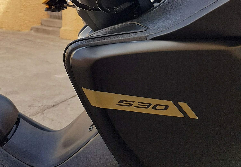 Adh/ésifs Gel 3D Protection Coins Car/énage Scooter Compatible avec Yamaha Tmax 530 2017-2019 Argent