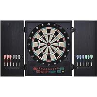 HOMCOM Diana Electrónica Digital hasta 8 Jugadores con 12 Dardos y 30 Puntas con Pantalla LED Puertas 27 Juegos…