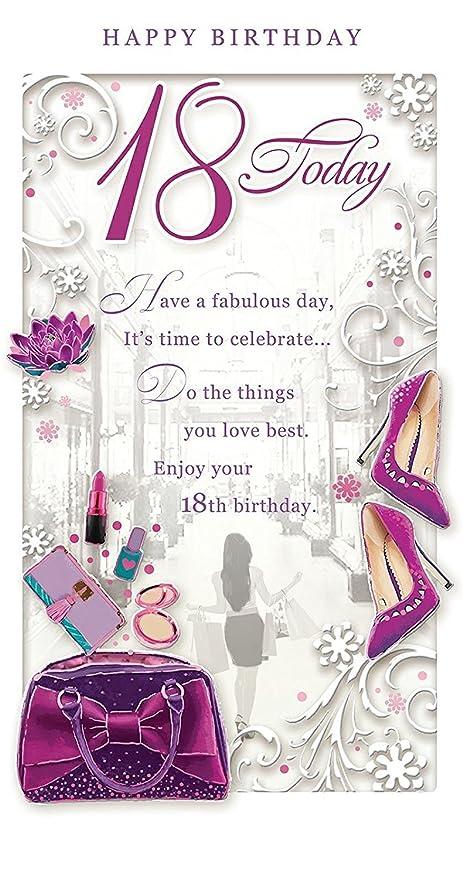 Opacity Edad 18 Hembra Tarjeta de cumpleaños - 18 Hoy Morado ...