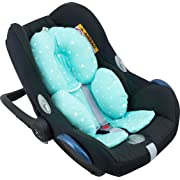 Janabebé Reducer Cushion Infant Head & Baby Body Support Antiallergic Mint Sparkles