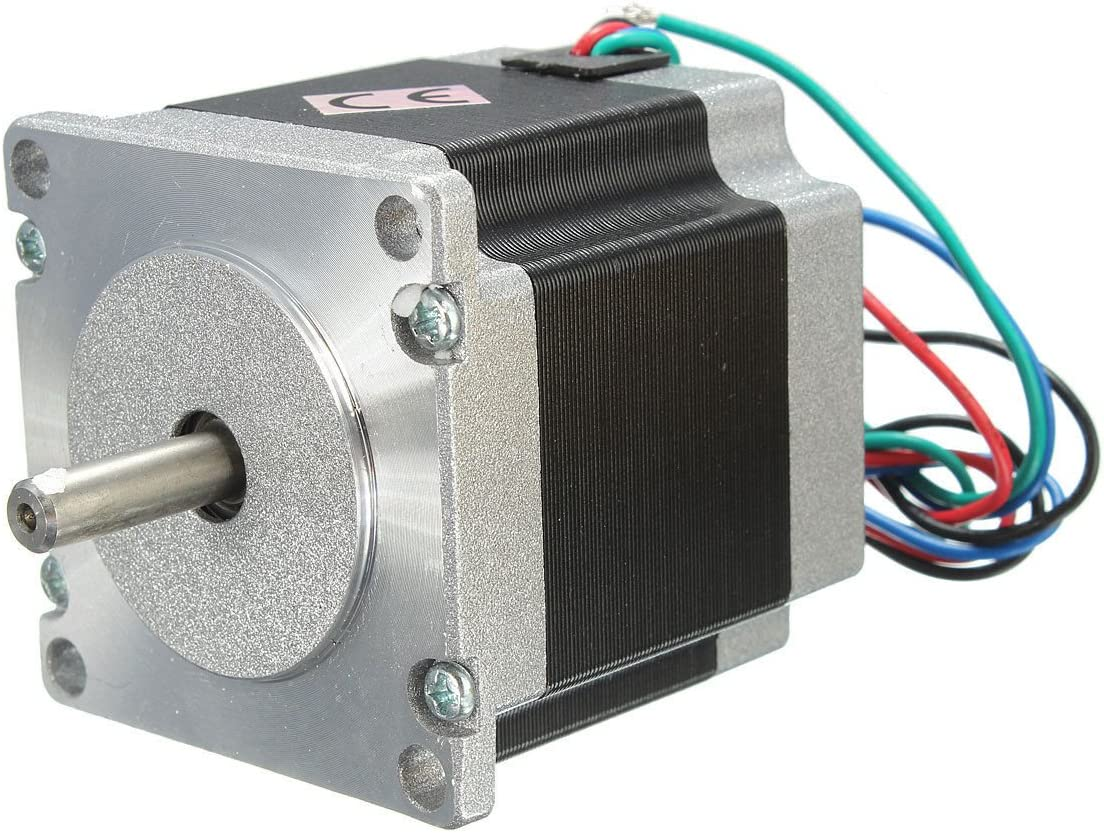 Yosoo NEMA 23 Single Shaft Robot torno CNC molino enrutador Motor paso a paso DC 24 V 56 mm, 2,8 A, 1,8 Degre Plotter de Corte de 4 canales: Amazon.es: Bricolaje y herramientas