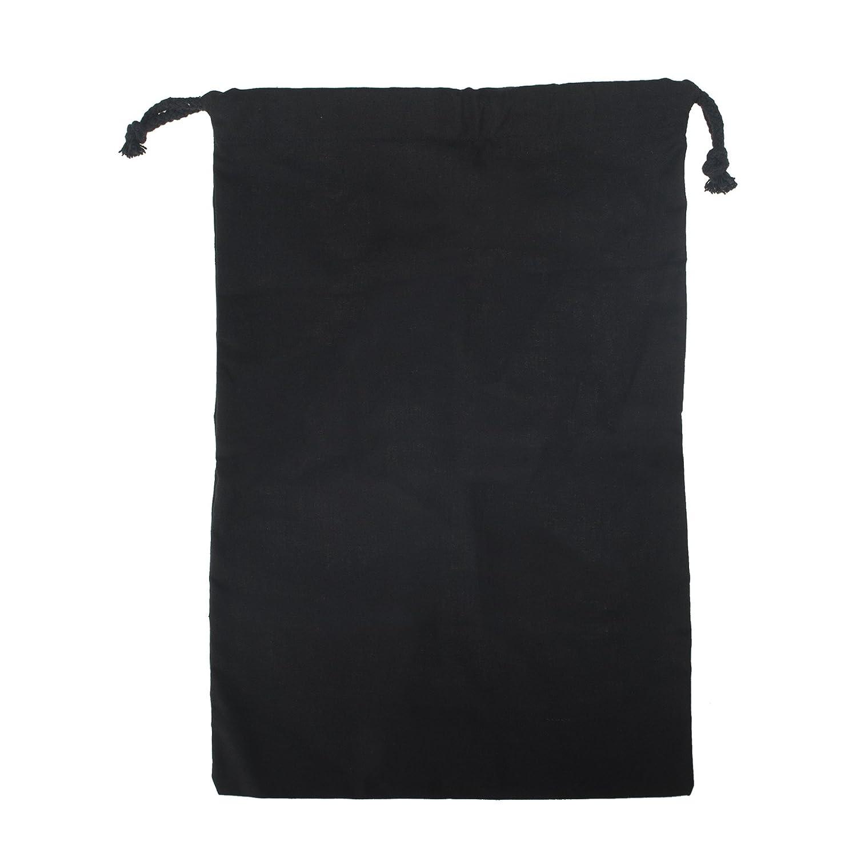 Opromo 100% Cotton Reusable Storage/Shoe Bag with Drawstring Closure For Men and Women, Travel Accessories 15.5H x 10.75W-Black-12 pcs 6BTS-EJ0005_BLACK-12PCS