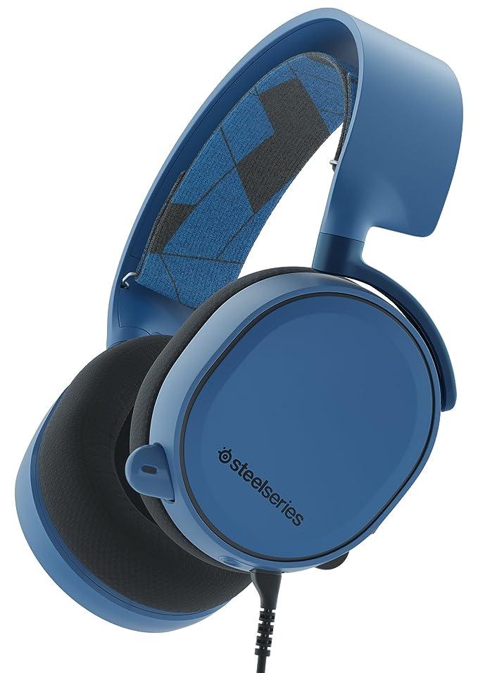 Steelseries Arctis 3 Binaurale Diadema Azul Auricular con micrófono - Auriculares con micrófono (Game Console + PC/Gaming, Binaurale, Diadema, Azul, Alámbrico, 3 m)