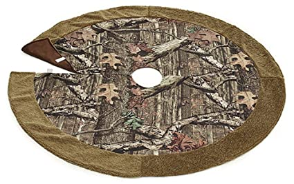 Mossy Oak Camouflage Christmas Tree Skirt For Holiday Home Decor