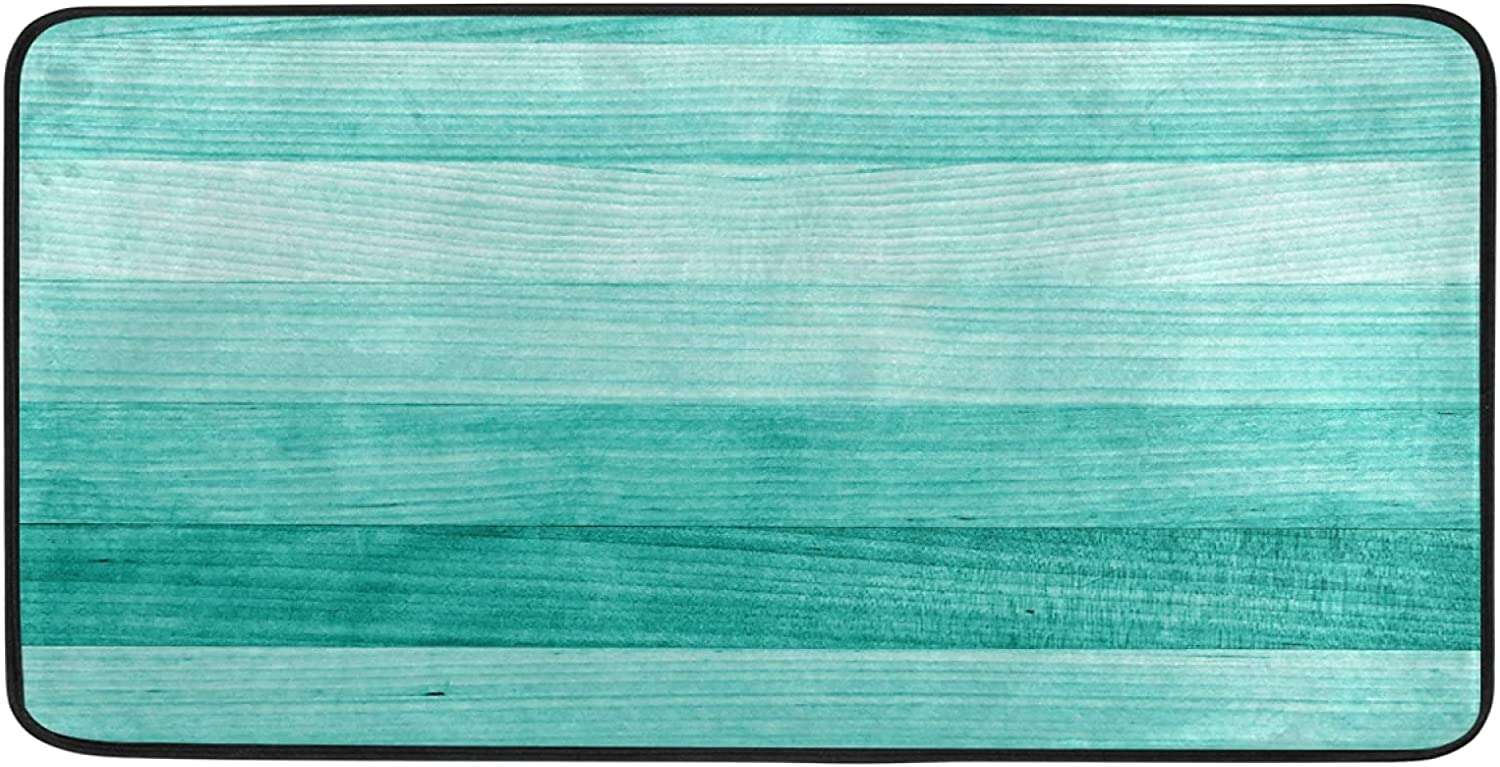 Teal Turquoise Green Kitchen Rug 39
