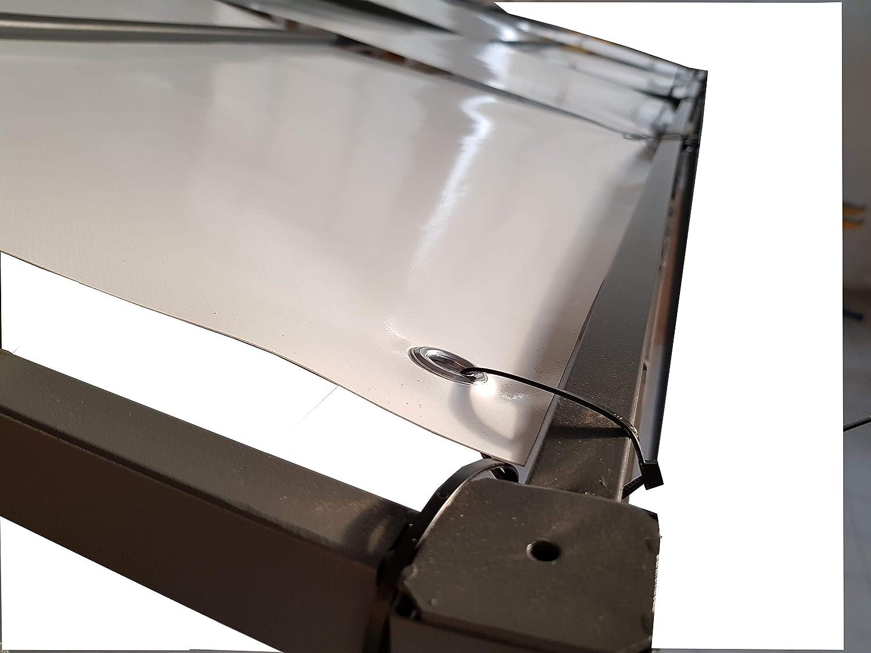 TUTTOPERGOLE Copertura con Fasce in PVC Pieno per Gazebo in Metallo Cm 200 X Cm 45, Verde