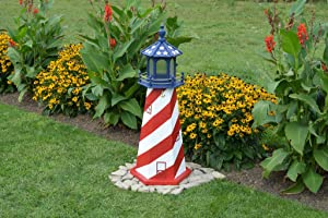 Wooded Replica USA Lighthouses-3 Foot-Patriotic, USA