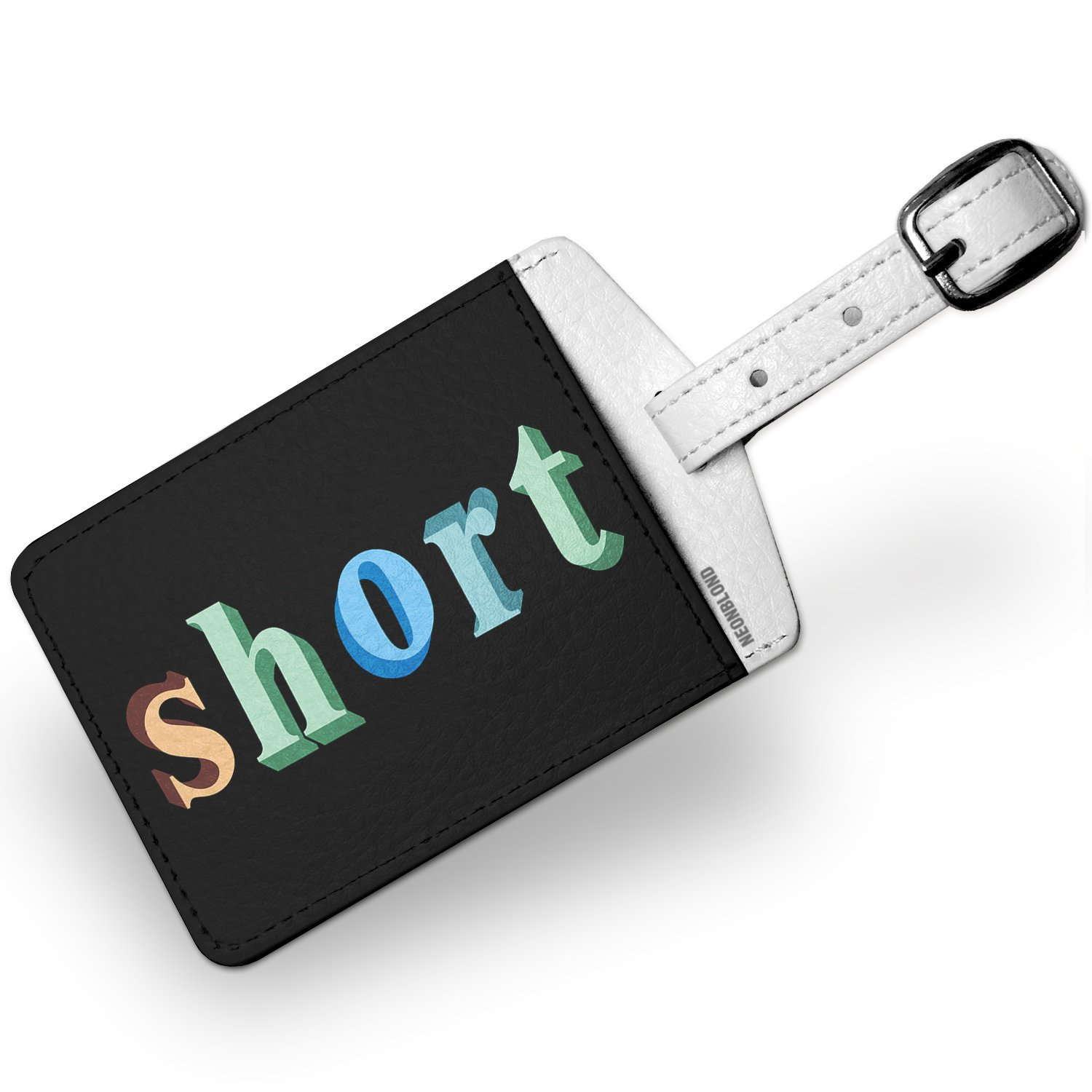 Luggage Tag Short Colorful Letters - NEONBLOND