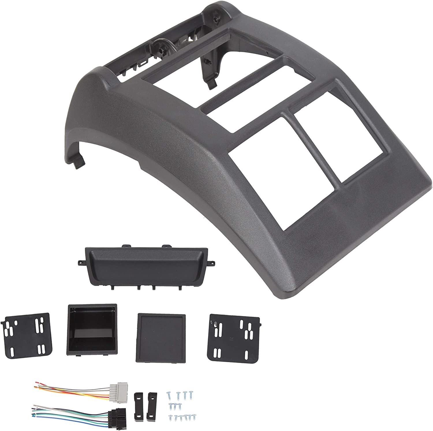 JMTAAT Double Din Dash Bezel Radio Stereo Mounting Kit for 1997-2002 Jeep Wrangler TJ