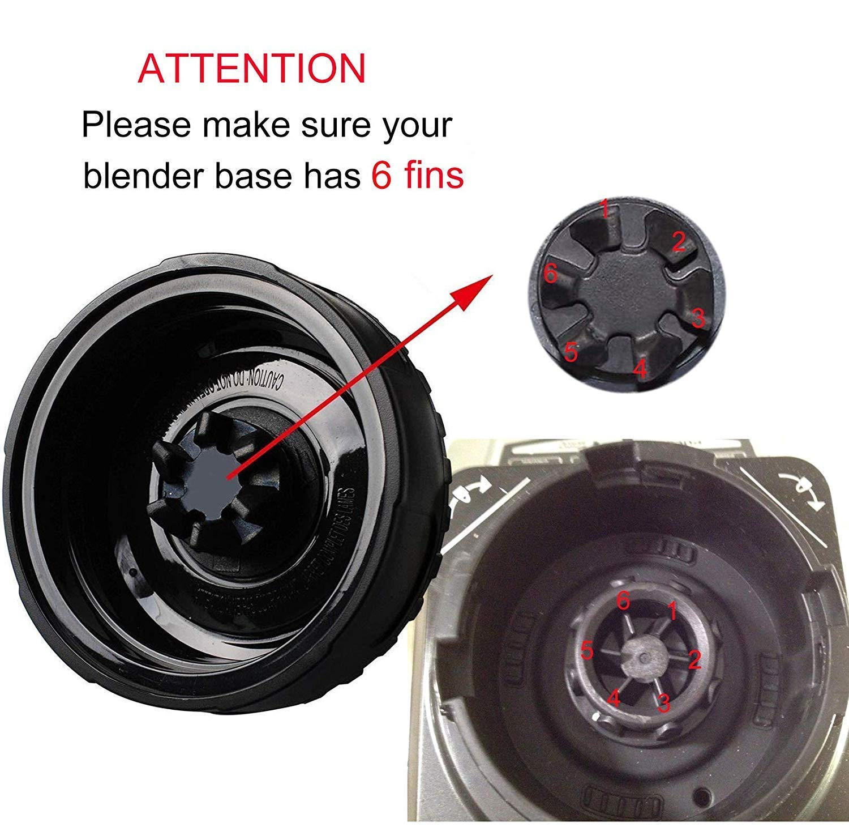 Podoy Blade Replacement for Ninja Blender 6 Fins Blade Parts fits Nutri Ninja BL660 L770 BL740 BL771 BL772 BL773CO Blade-2 Pack