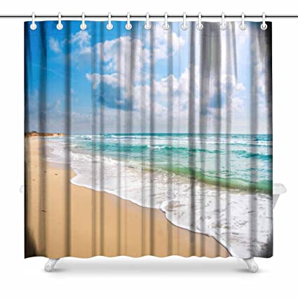 Amazon.com: InterestPrint Beautiful Sandy Beach and Blue ... on blue fireplace designs, black and white tile floor designs, blue fence designs, blue desk designs, blue floor designs, blue bar design, blue solar designs, blue home designs, blue cooking designs, mosaic bathtub designs, blue glass designs, blue computer designs, blue color, blue painting designs, blue waueles, blue snow designs, blue porch designs, cool blue designs, blue counter designs, blue bedroom,