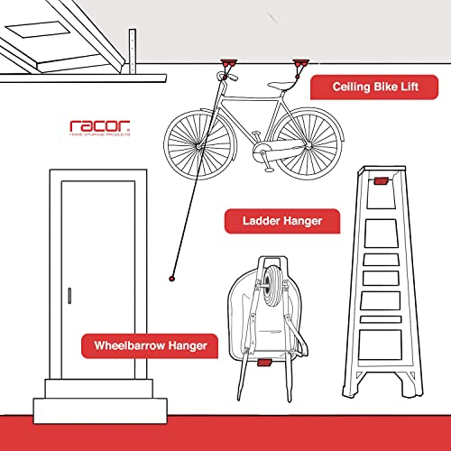 Racor - PBH-1R, Bike Storage, Garage Pulley Lift