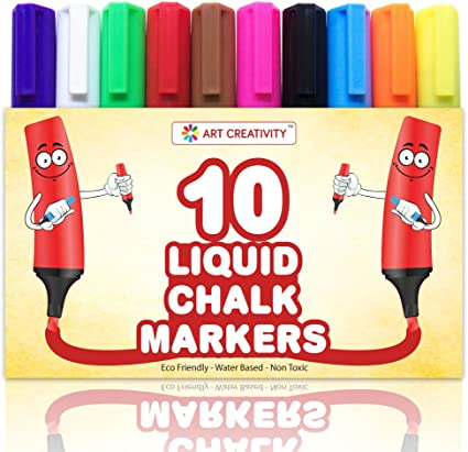 10 Jumbo Markers Exciting /& Vibrant Colours by Arty Crafty