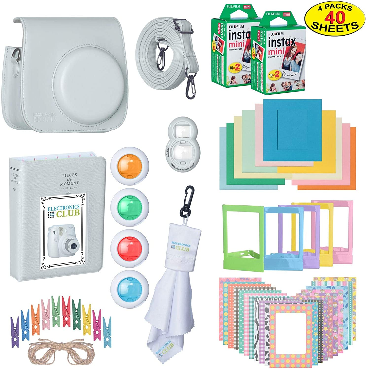 The Ultimate Accessories Kit Bundle for Fujifilm Instax Mini 9 Instant Film Camera