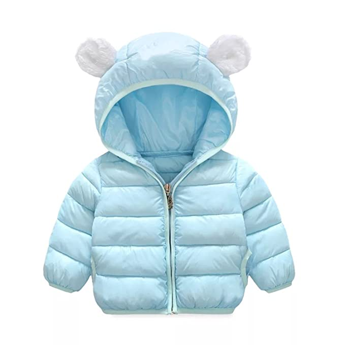 824d8c45035 Infant and Toddler Baby Boys Girls Winter Warm Cotton Puffer Cartoon Coats  Kids Thicken Jacket Outerwear