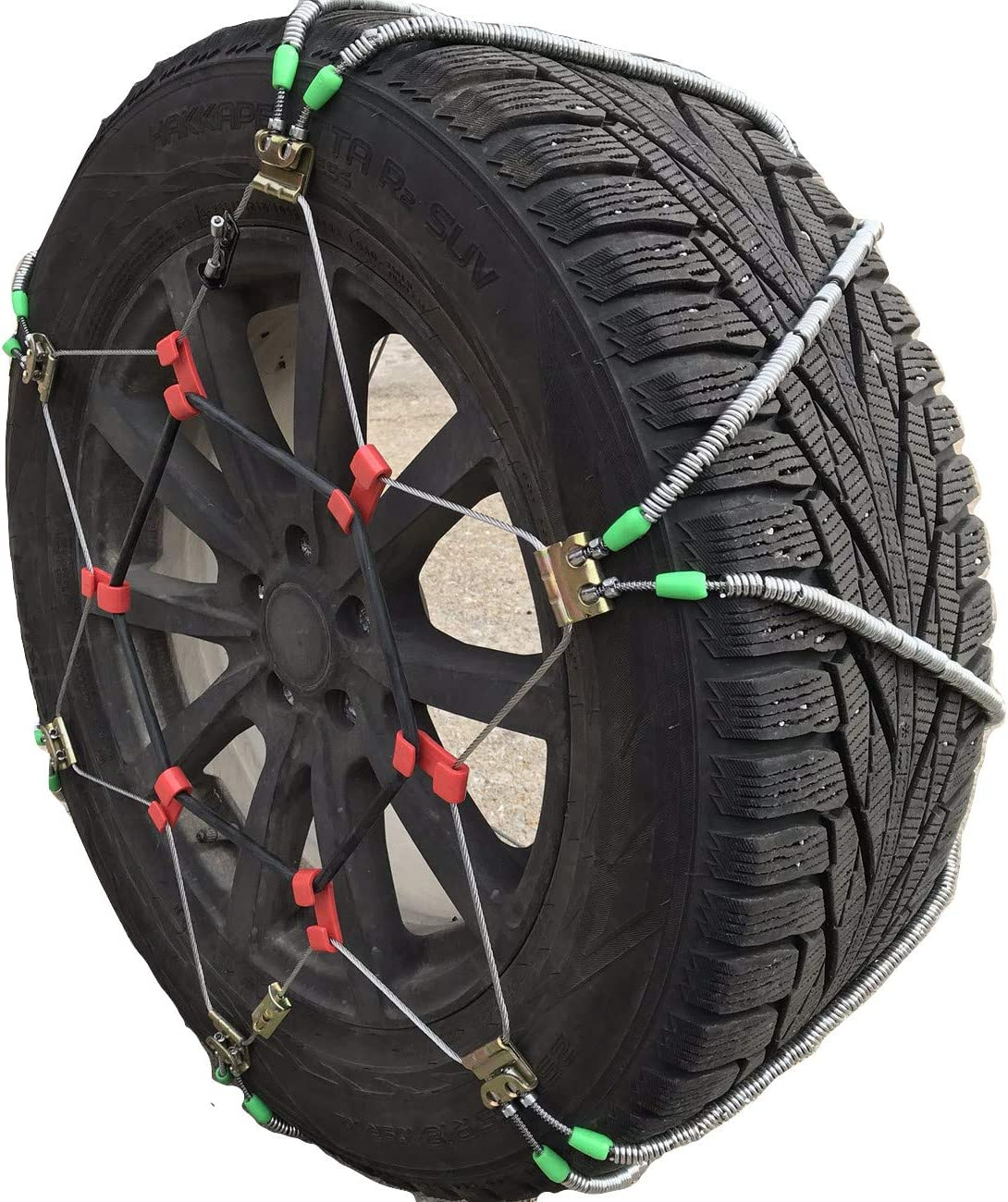 TireChain.com 25 8.5 14 Set of 2 25x8.5x14 Rubber Tractor Tire Chains