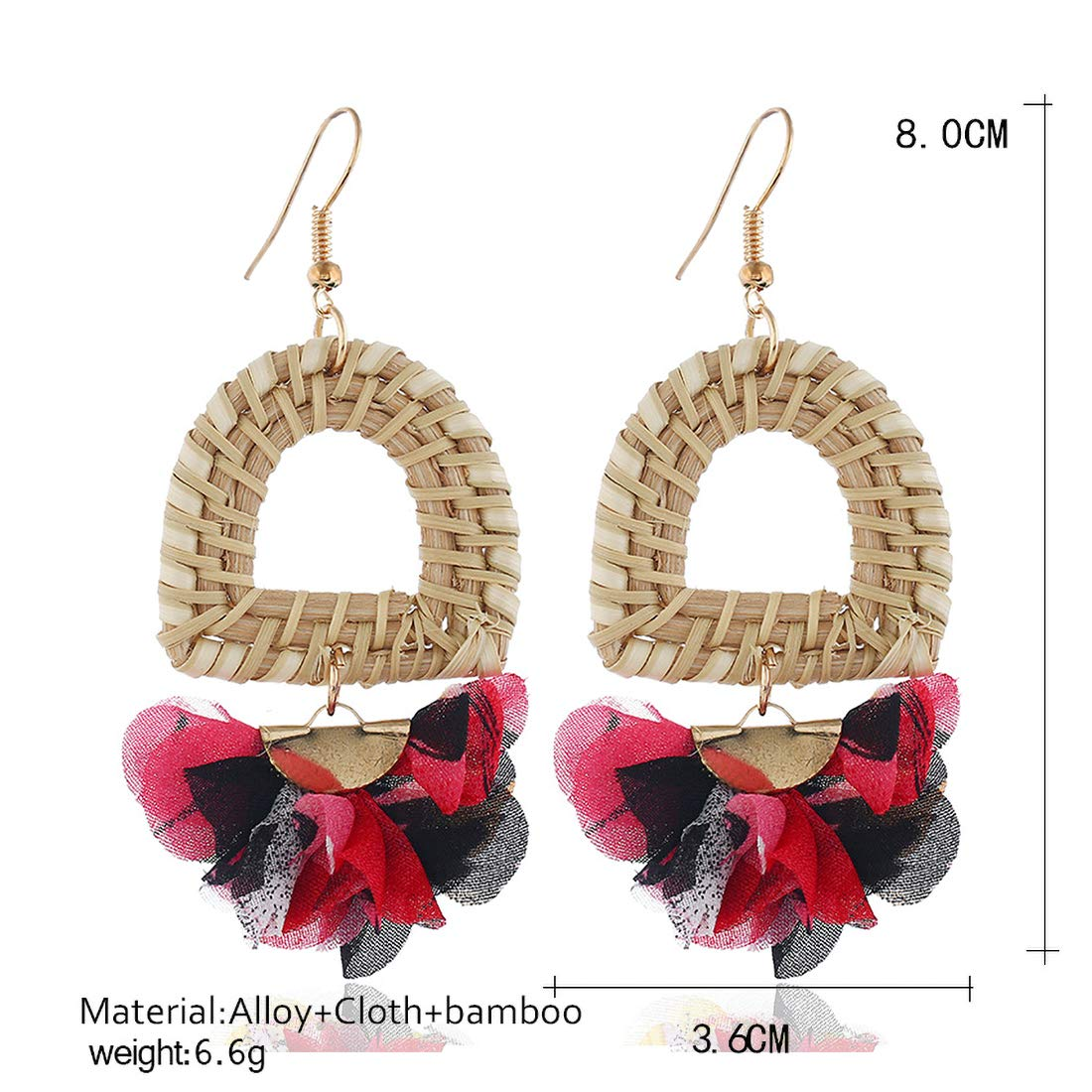 Handmade Bamboo Earrings Great Gifts for Women Girls JXVLUYE Charm Earring for Women Girls