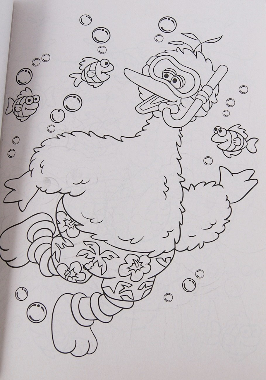 Sesame Street Puddles of Fun 224 Page Coloring Book with Stickers Bendon Publishing International