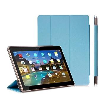 YOTOPT Funda para Tablet 10.1 / BEISTA 10 Pulgadas/Kivors 10.1/Excelvan F888/Excelvan M10K6/LNMBBS 3G 10.1/QIMAOO 10.1, Azul