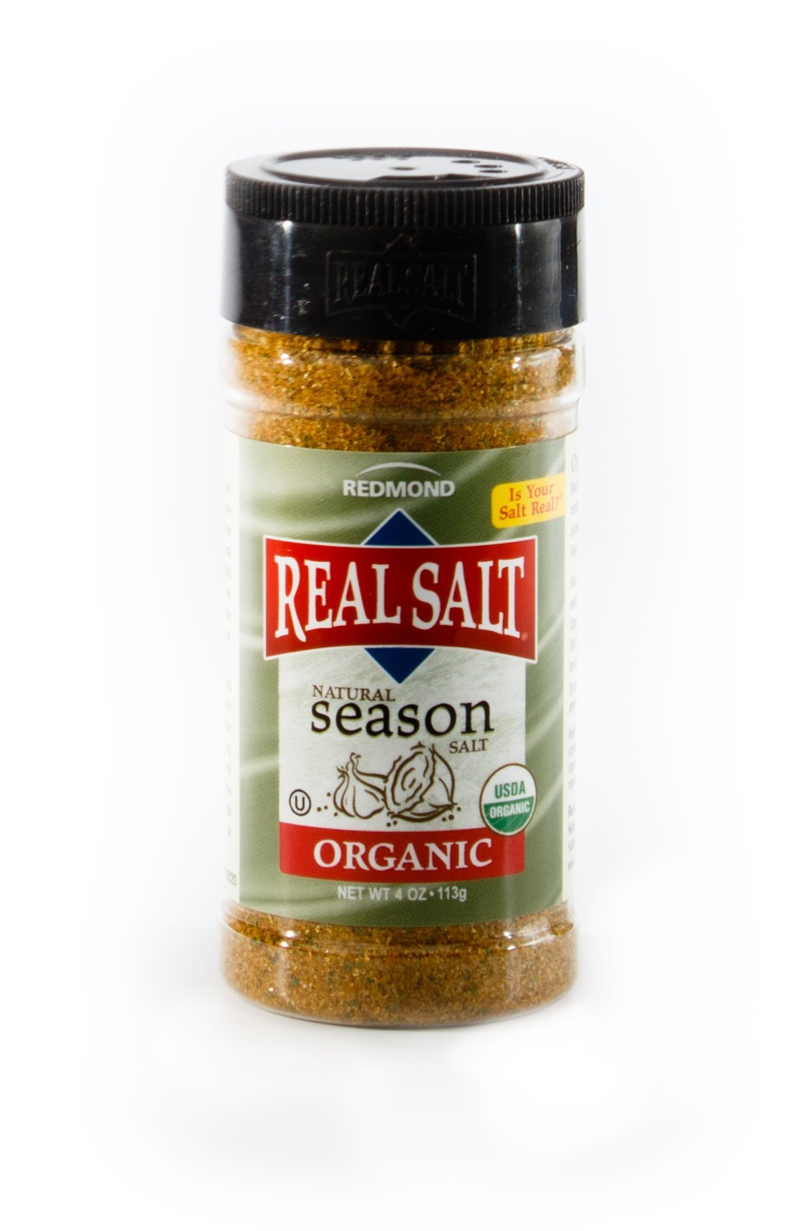Redmond Real Sea Salt - Natural Unrefined Organic Gluten Free, Seasoning 4.1 Ounce Shaker …