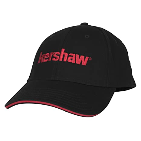 Kershaw Black Ball Cap with Red-Tipped Bill and Red Brand Logo  All- 3948515140b1