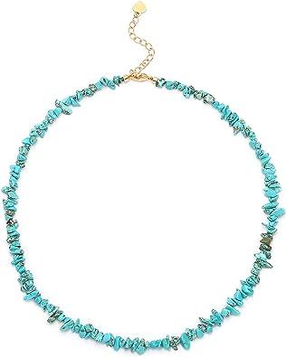 Turquoise crystal necklace choker Choker necklace Gemstone layered necklace Turquoise jewelry Turquoise necklace. Dainty necklace
