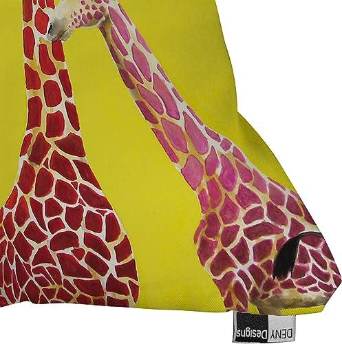 Deny Designs Clara Nilles Jellybean Giraffes Outdoor Throw Pillow