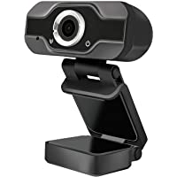 HD Webcam, Laptop Desktop USB Web Camera HD 1080P with Microphone Wide View Angle USB 110° W Computer Web Camera for…