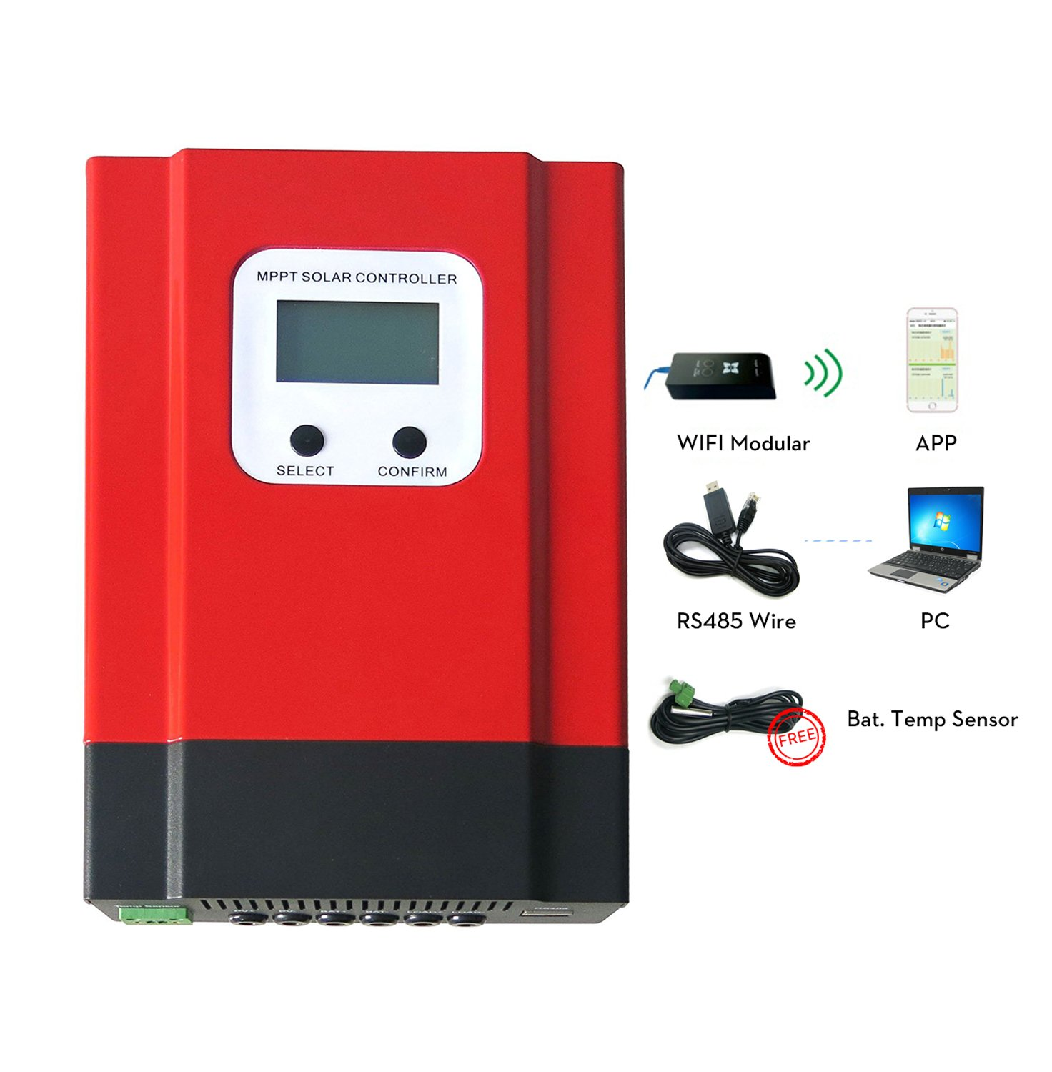 Y&H 60A MPPT Solar Charge Controller 48V/36V/24V/12V Solar Panel for Flooded/Sealed lead acid/Gel/Lithium Battery Charge Regulator Support off grid Solar System Max 150VDC Input