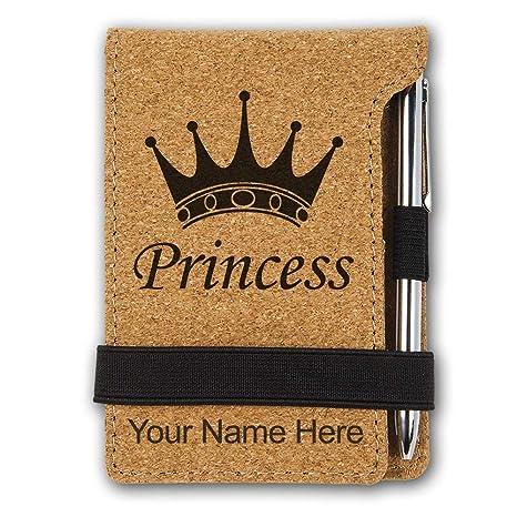 Amazon.com: Mini bloc de notas, corona de princesa, grabado ...
