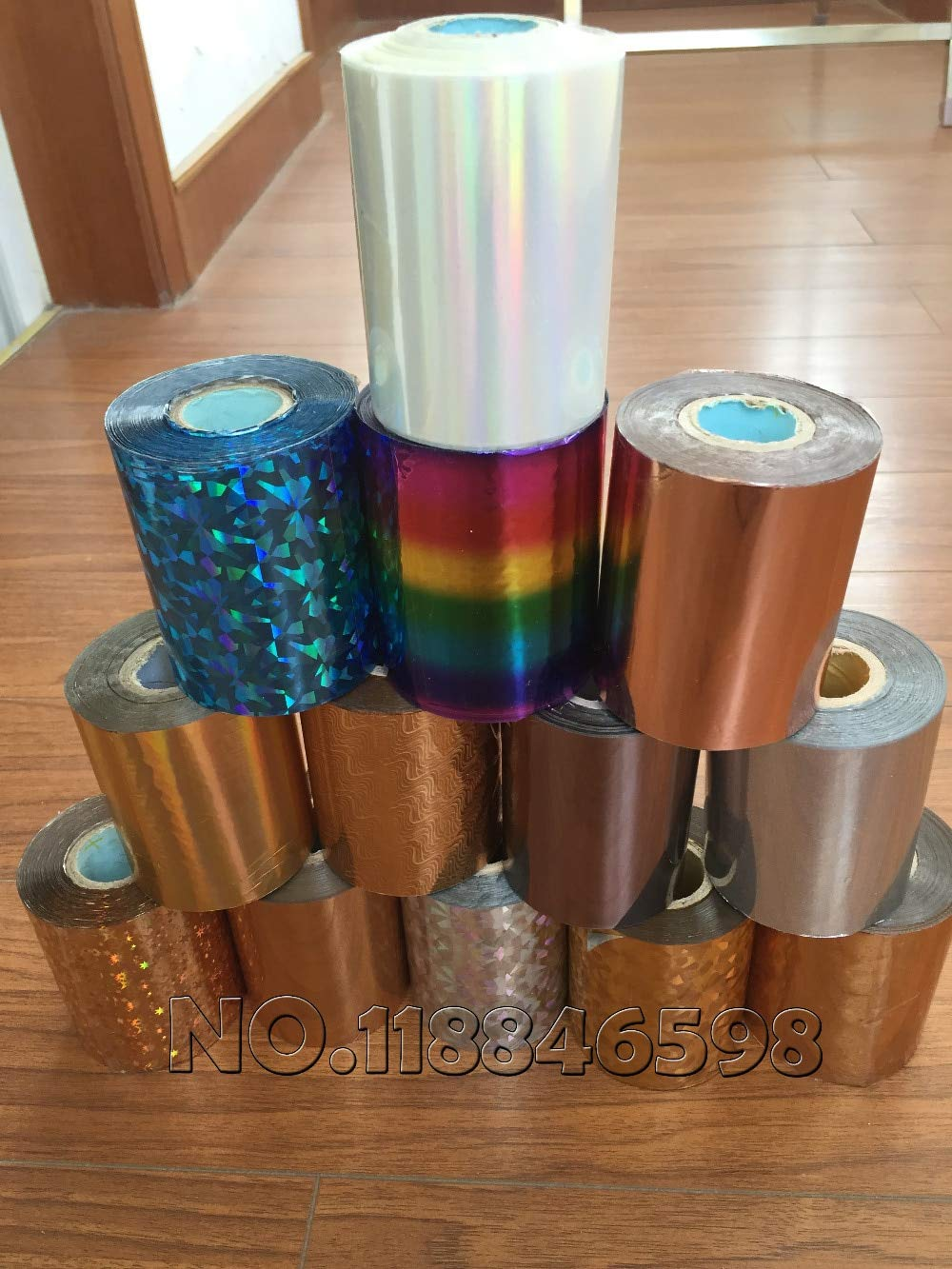 Tool Parts DIY Transfer Hot Stamping Paper Hot Selling Hot Foil Stamping Colorful 80mmx120M Heat Stamping Foil Film - (Color: rose gold)