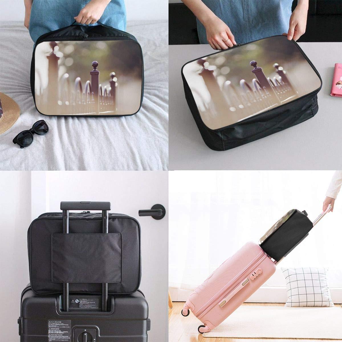 Travel Luggage Duffle Bag Lightweight Portable Handbag City Pattern Large Capacity Waterproof Foldable Storage Tote