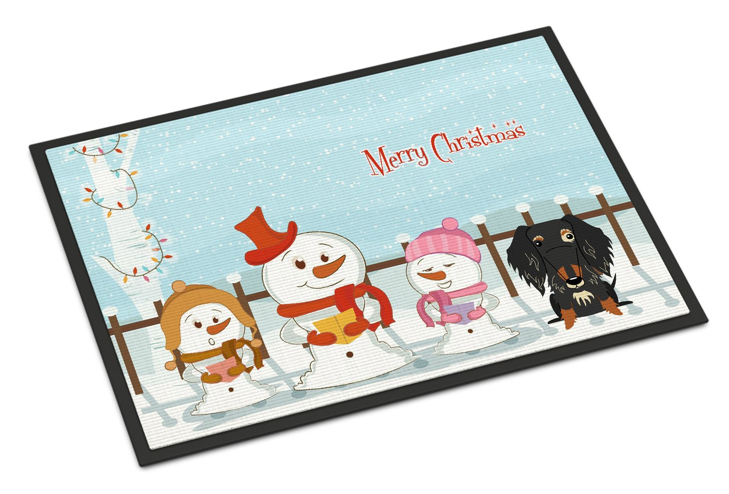 Carolines Treasures Merry Christmas Carolers Wire Haired Dachshund Dapple Indoor or Outdoor Mat 24x36 BB2459JMAT 24 x 36 Multicolor