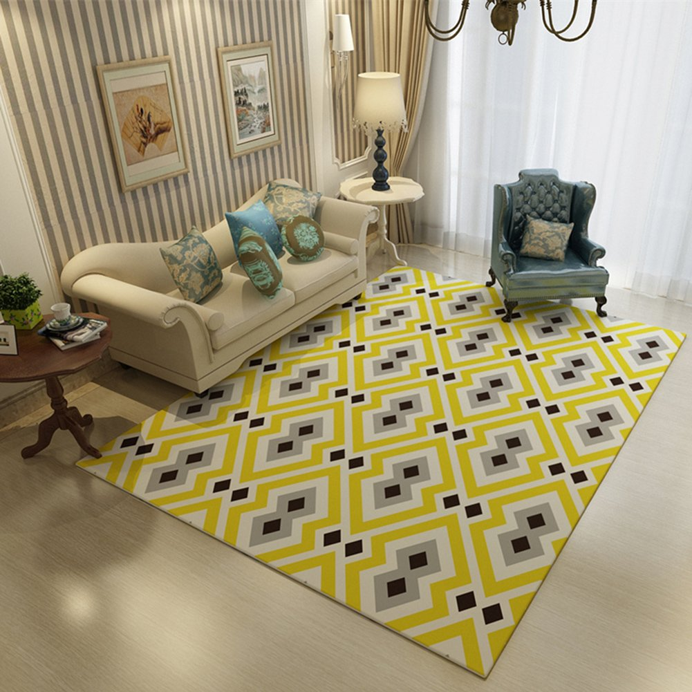 Geometry Home Rugs 63 X 91 Inch - MeMoreCool Various Patterns No Fading Anti-slipping Simple Style Living Room Tea Table Carpets by MeMoreCool (Image #1)