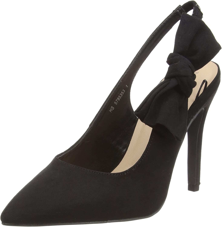 TALLA 39 EU. New Look Wide Foot Rowetta, Zapatos de tacón con Punta Cerrada para Mujer