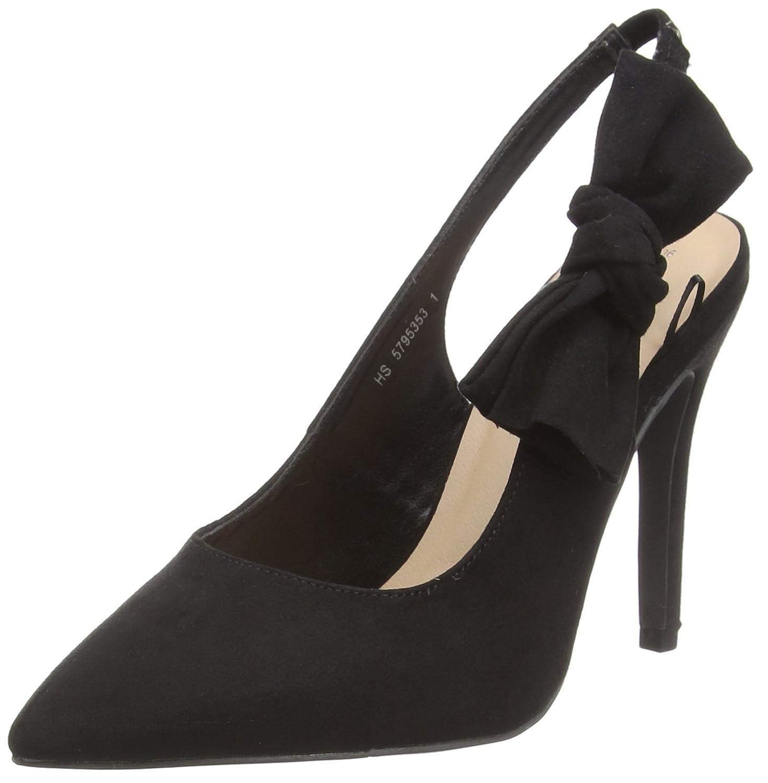 New Look Wide Foot Rowetta, Zapatos de tacón con Punta Cerrada para Mujer