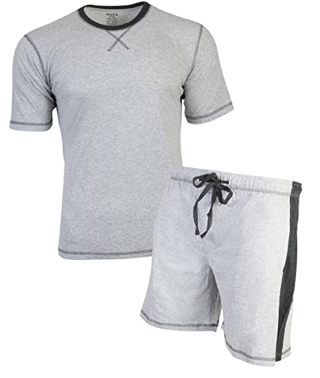 741e8faf41b TruFit Men s 2-Piece Summer Short Sleeve Shirt and Shorts Pajama Set ...