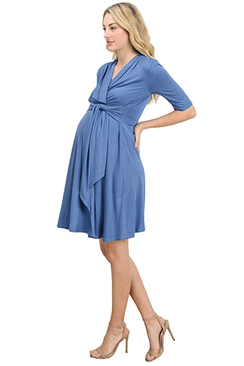 LaClef Women\'s Front Tie Nursing Friendly Baby Shower Wrap Maternity ...